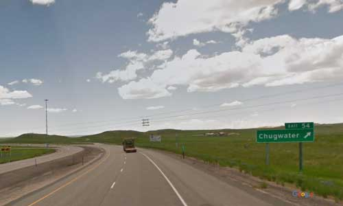 wy interstate i25 wyoming chugwater rest area southbound mile marker 54