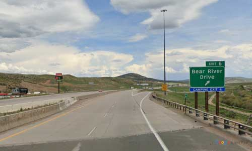 wy interstate i80 wyoming bear river eastbound mile marker 6