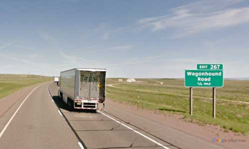 wy interstate i80 wyoming wagonhound rest area westbound mile marker 267