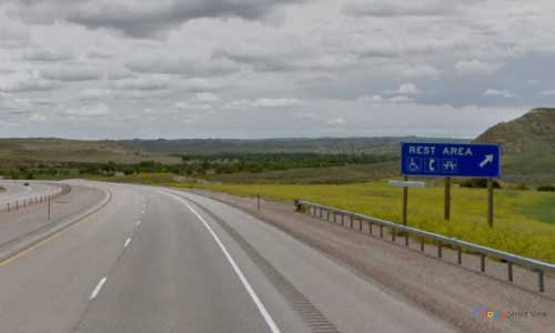wy interstate i90 wyoming powder river rest area eastbound mile marker 88