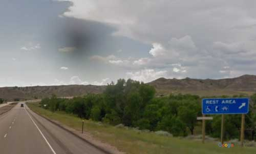 wy interstate i90 wyoming powder river rest area westbound mile marker 88