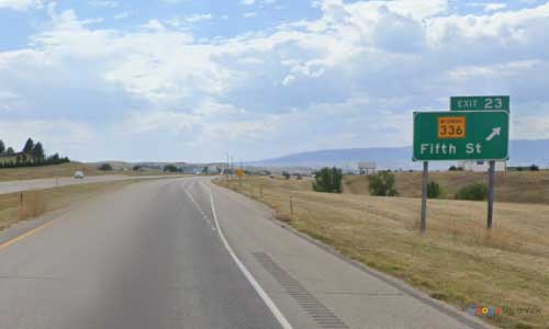 wy interstate i90 wyoming sheridan information center eastbound mile marker 23