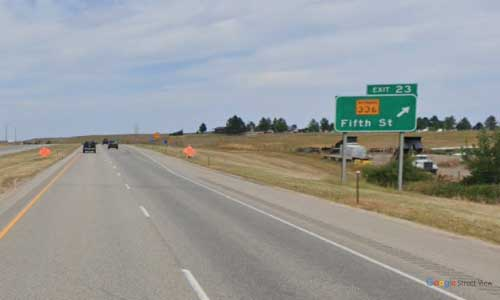 wy interstate i90 wyoming sheridan information center westbound mile marker 23